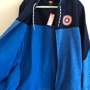 Marvel Shirts - MARVEL Captain American Zip Up Hoodie